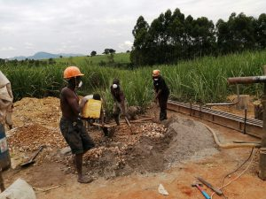 The Water Project:  Beginning Well Pad Construction