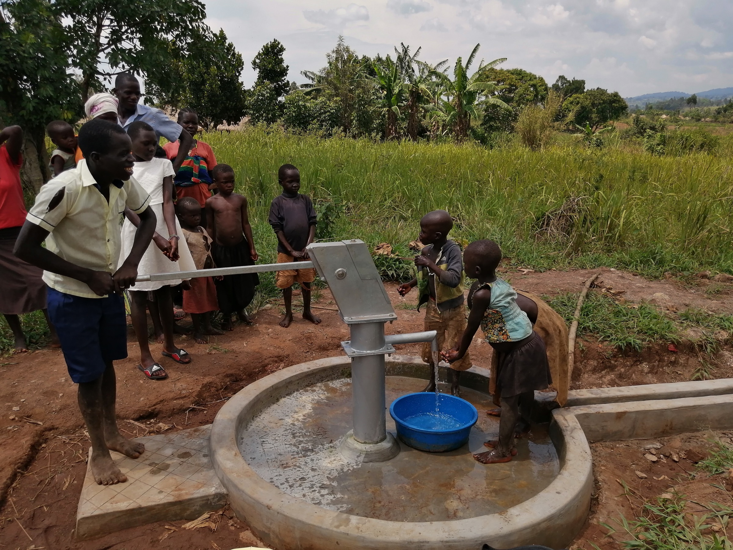 The Water Project : uganda20505-children-celebrate-the-well