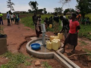 The Water Project:  Fetching Water At Rehabilitated Well