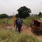 The Water Project: Ejinga Taosati Community -  Flushing Borehole