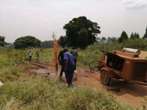 The Water Project:  Flushing Borehole