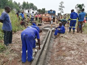 The Water Project:  Working On Well Pad Cement