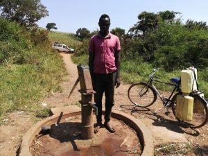 The Water Project:  Jimmy Birengeso At The Well