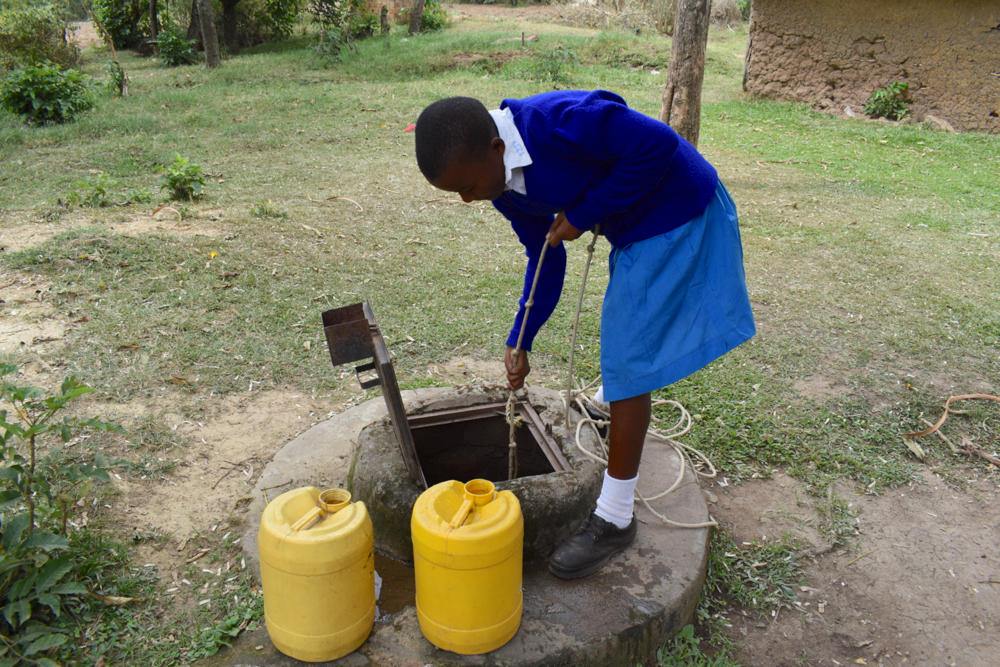 The Water Project : kenya21255-fetching-water-at-home-7