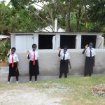The Water Project: Friends Mixed Secondary School Lwombei -  Girls At Their New Latrines