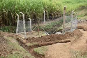 The Water Project:  Fenced In Catchment Area With Cut Off Dainage Channels