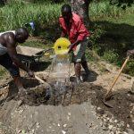 The Water Project: Mukhuyu Community, Gideon Kakai Chelagat Spring -  Mixing Mortar