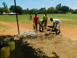 The Water Project:  Preparing Concrete And Cement