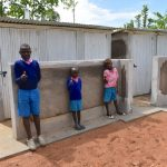 The Water Project: Gidimo Primary School -  Boys Pose At Their New Latrines