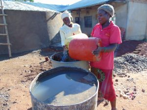 The Water Project:  Women Delivering Water For Construction
