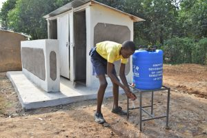 The Water Project:  Washing Hands Outside The Latrines