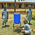 The Water Project: Friends Musiri Primary School -  At A New Handwashimg Station