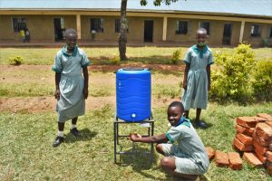 The Water Project:  At A New Handwashimg Station