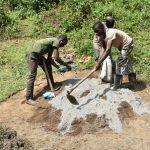 The Water Project: Emutetemo Community, Lubale Spring -  Preparing Construction Materials