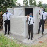 The Water Project: Friends Mixed Secondary School Lwombei -  Boys At Their New Latrines