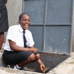 The Water Project: Friends Mixed Secondary School Lwombei -  Happy Faces At The Rain Tank