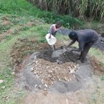 The Water Project: Mukoko Community, Zebedayo Mutsotsi Spring -  Mixing Concrete