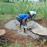 The Water Project: Shihome Community, Oloo Njinuli Spring -  Mixing Cement