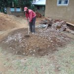 The Water Project: Kitambazi Primary School -  Mixing Mortar