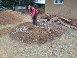 The Water Project:  Mixing Mortar