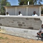 The Water Project: Kitambazi Primary School -  Boys In Front Of Their New Latrines