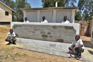 The Water Project:  Boys In Front Of Their New Latrines