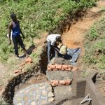 The Water Project: Emutetemo Community, Lubale Spring -  Setting Up The Staircase