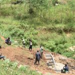 The Water Project: Mushikulu B Community, Olando Spring -  Backfilling With Soil