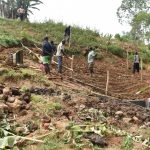 The Water Project: Mushikulu B Community, Olando Spring -  Setting Up The Fence
