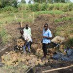 The Water Project: Mabanga Community, Ashuma Spring -  Layer Of Small Rocks