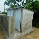 The Water Project: Ibokolo Primary School -  Side View Of Latrine Block
