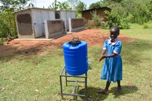 The Water Project:  Sharon Using A New Handwashing Station