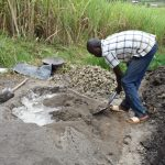 The Water Project: Mabanga Community, Ashuma Spring -  Mixing Cement