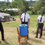 The Water Project: Friends Mixed Secondary School Lwombei -  Happy For The Handwashing Point