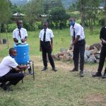 The Water Project: Friends Mixed Secondary School Lwombei -  Thanks For The Handwashing Station