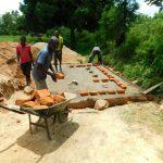 The Water Project: Ibokolo Primary School -  Latrine Foundation Work