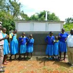 The Water Project: Ibokolo Primary School -  Thumbs Up At New Latrines