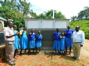 The Water Project:  Thumbs Up At New Latrines