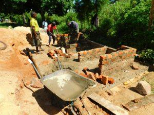 The Water Project:  Raising Latrine Walls