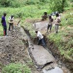 The Water Project: Emutetemo Community, Lubale Spring -  Laying The Foundation