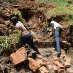 The Water Project: Mushikulu B Community, Olando Spring -  Raising The Walls