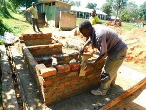 The Water Project:  Working On Latrine Walls