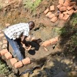 The Water Project: Emutetemo Community, Lubale Spring -  Bricklaying Begins