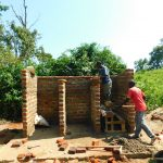 The Water Project: Ibokolo Primary School -  Latrine Stalls Take Shape