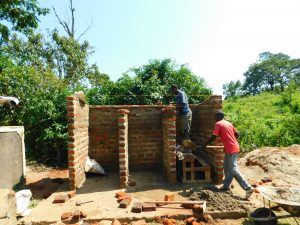 The Water Project:  Latrine Stalls Take Shape