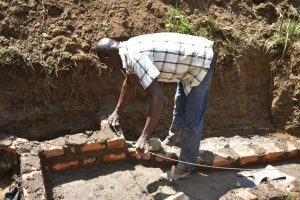 The Water Project:  Reinforcing Walls With Wire