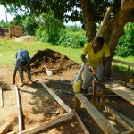 The Water Project: Ibokolo Primary School -  Cutting Frames For Latrines