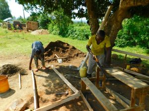 The Water Project:  Cutting Frames For Latrines
