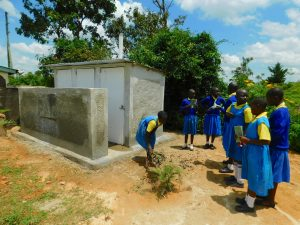 The Water Project:  Sweeping Latrines Clean At Training