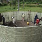 The Water Project: Friends Mixed Secondary School Lwombei -  First Layer Of Inside Plaster